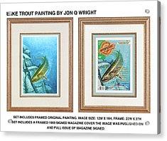 Lake Trout Original Acrylic Print