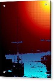 Lake Union Moorage Acrylic Print by Tim Allen