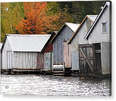 Lake Vermillion Boathouses Acrylic Print