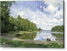 Lake View At Engelsberg, Vastmanland, 1893 Acrylic Print by Olof Per Ulrik Arborelius