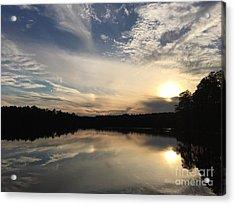 Lake View At Sunset Acrylic Print