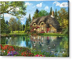 Lake View Cottage Acrylic Print by Dominic Davison