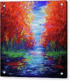 Olena Art Lake View Abstract Artwork Acrylic Print