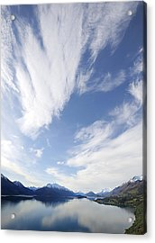 Lake Wakatipu Sky Acrylic Print by Barry Culling