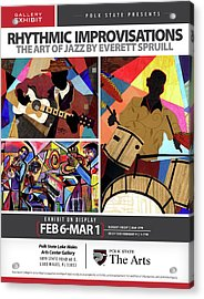 Rhythmic Improvisations - The Art Of Jazz Acrylic Print