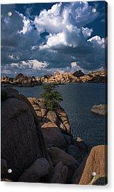 Acrylic Print featuring the photograph Lake Watson Prescott Arizona 2498 by David Haskett