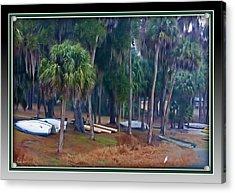 Lake Wauburg Rain Acrylic Print