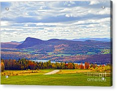 Lake Willoughby In Autumn Acrylic Print by Catherine Sherman
