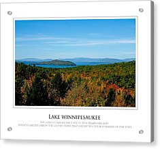 Lake Winnipesaukee - Fall Acrylic Print by Jim McDonald Photography