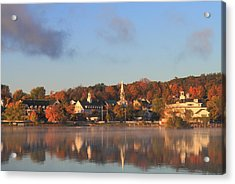 Lake Winnipesaukee Meredith Autumn Morning Acrylic Print