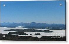 Lake Winnipesaukee View From Mt. Major Acrylic Print by Michael Mooney