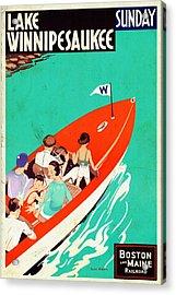 Lake Winnipesaukee - Vintagelized Acrylic Print