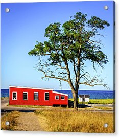 Acrylic Print featuring the photograph Lakefront In Glen Arbor by Alexey Stiop