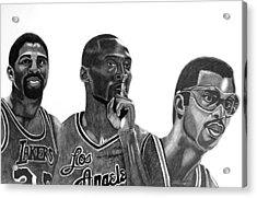 Laker Greats Acrylic Print by Keeyonardo