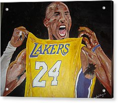 Lakers 24 Acrylic Print by Daryl Williams Jr