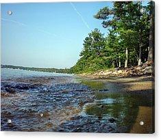 Lakeshore Bubbles Acrylic Print by Bill Noonan