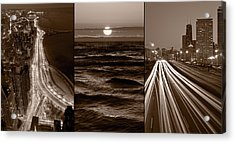 Lakeshore Chicago Acrylic Print by Steve Gadomski