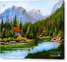 Lakeside Cabin Acrylic Print