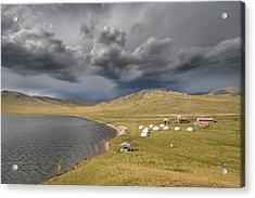 Acrylic Print featuring the photograph Lakeside Camp, Khorgo, 2016 by Hitendra SINKAR