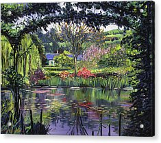 Lakeside Giverny Acrylic Print by David Lloyd Glover