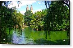Lakeside In Manhattan, New York Acrylic Print