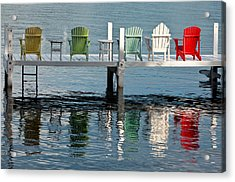 Lakeside Living Acrylic Print by Steve Gadomski