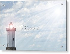 Acrylic Print featuring the photograph Lakeside Park Lighthouse by Joel Witmeyer