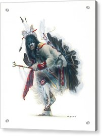Lakota Dancer Acrylic Print