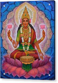 Acrylic Print featuring the painting Lakshmi Blessing by Sue Halstenberg