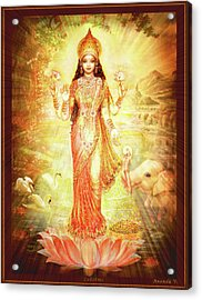 Lakshmi Goddess Of Fortune Acrylic Print by Ananda Vdovic