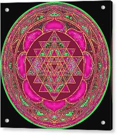 Lakshmi Yantra Mandala Acrylic Print by Svahha Devi