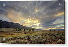 Lamar Valley Sunset Acrylic Print