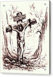 Lamb Of God Acrylic Print by Rachel Christine Nowicki