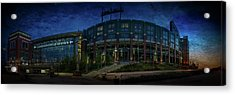 Acrylic Print featuring the photograph Lambeau Field At Dusk by Joel Witmeyer