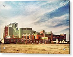 Acrylic Print featuring the photograph Lambeau Field Retro Feel by Joel Witmeyer