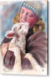 Lambie Love Acrylic Print