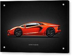 Lamborghini Aventador Acrylic Print by Mark Rogan
