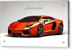 Lamborghini Aventador Acrylic Print