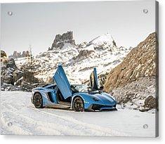 Lamborghini Aventador Sv Acrylic Print
