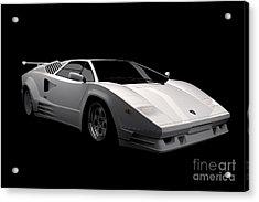 Lamborghini Countach 5000 Qv 25th Anniversary Acrylic Print