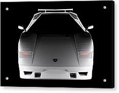 Lamborghini Countach 5000 Qv 25th Anniversary - Front View  Acrylic Print