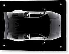 Lamborghini Countach 5000 Qv 25th Anniversary - Top View Acrylic Print
