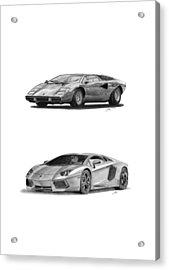Lamborghini Lp V12 Duo Acrylic Print by Gabor Vida