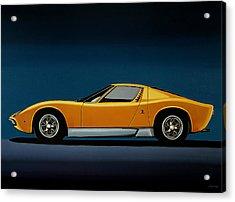Lamborghini Miura 1966 Painting Acrylic Print
