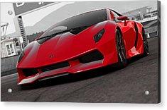 Lamborghini Sesto Elemento - Red Efesto Acrylic Print by Andrea Mazzocchetti