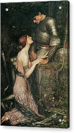 Lamia Acrylic Print by John William Waterhouse