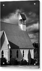 Lamp And Belfry In Black And White Acrylic Print