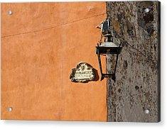 Lamp At The Corner. Acrylic Print