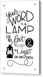 Lamp Acrylic Print by Nancy Ingersoll