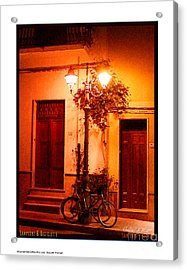 Lampione And Biciclette Acrylic Print by Shelley A Aliotti